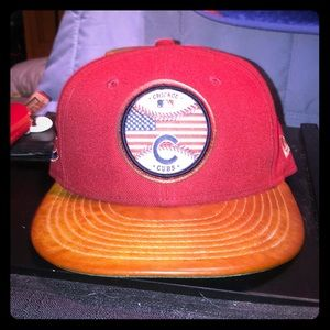 New Era Chicago Cubs Vintage Logo Fitted Cap 7 1/4